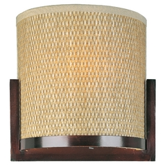 Modern Sconce Wall Light with Brown Tones Shades in Oil Rubbed Bronze Finish