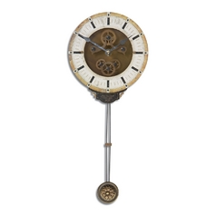 Clock in Brass Finish