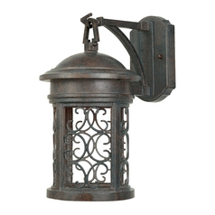 Outdoor Wall Light in Mediterranean Patina Finish
