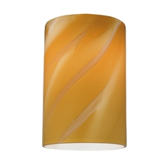 Butterscotch Cylinder Art Glass Shade - Lipless with 1-5/8-Inch Fitter Opening