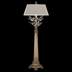 Fine Art Lamps Crystal Laurel Gold Leaf Console & Buffet Lamp with Empire Shade