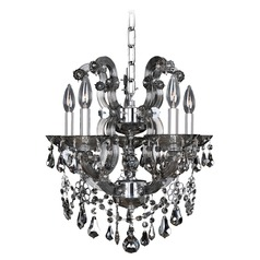 Allegri Brahms 5-Light Chandelier in Chrome