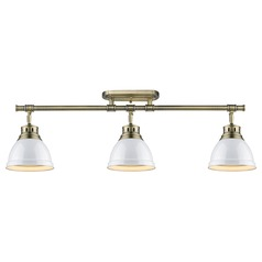 Golden Lighting Duncan Ab Aged Brass Rail, Cable, Track Accessory