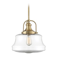 Savoy House Lighting Garvey Warm Brass Pendant Light with Urn Shade