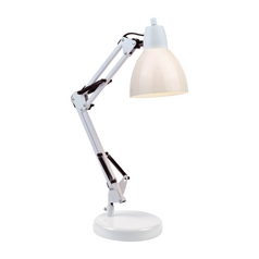 Lite Source Lighting Karsten White Desk Lamp