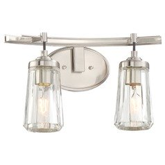 Minka Poleis Brushed Nickel Bathroom Light