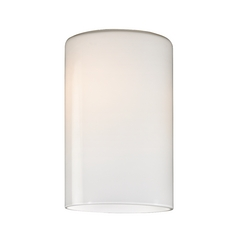 Cylinder Opal White Glass Shade - Lipless with 1-5/8-Inch Fitter