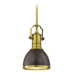 Farmhouse Industrial Black Mini-Pendant 7.38-Inch Wide