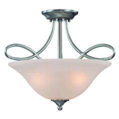 Craftmade Cordova Satin Nickel Convertible Ceiling Light