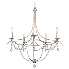 Crystorama Hot Deal 5-Light Chandelier in Antique Silver