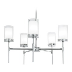 Norwell Lighting Kimberly Polish Nickel Chandelier