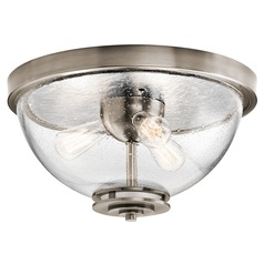 Kichler Lighting Silberne Classic Pewter Flushmount Light