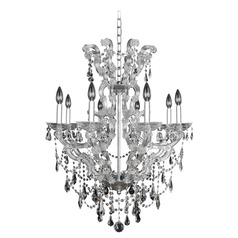 Allegri Brahms 8-Light Crystal Chandelier in Chrome