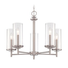 Designers Fountain Harlowe Satin Platinum Chandelier