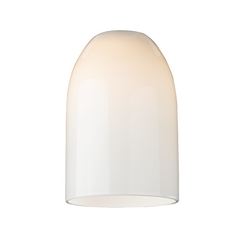 Opal White Glass Shade - Lipless with 1-5/8-Inch Fitter Opening