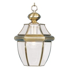Livex Lighting Monterey Antique Brass Outdoor Hanging Light