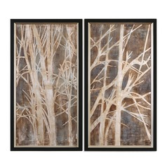 Uttermost Twigs Hand Painted Art, Set of 2