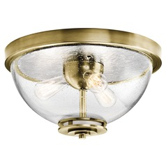 Kichler Lighting Silberne Natural Brass Flushmount Light