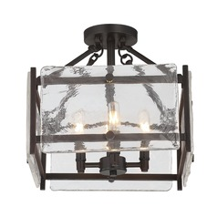 Savoy House Lighting Glenwood English Bronze Semi-Flushmount Light