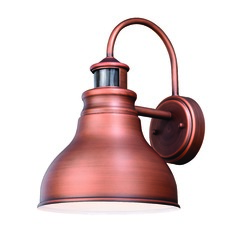 Farmhouse Barn Light Outdoor Wall Light Copper Delano Vaxcel Lighting