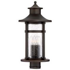 Minka Lavery Highland Ridge Oil Rubbed Bronze with Gold Highlights Post Light