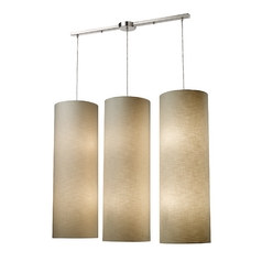 Multi-Light Pendant Light with Beige / Cream Shades and Multi-Lights