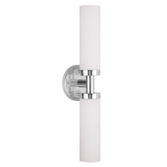 Livex Lighting Aero Chrome Vertical Bathroom Light