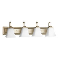 Quorum Lighting Aged Silver Leaf Bathroom Light