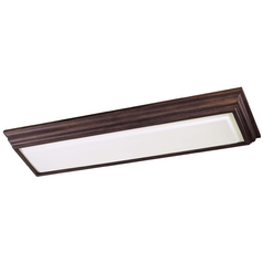 Flushmount Light with White Glass in Belcaro Walnut Finish