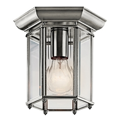 Kichler Lighting Close To Ceiling Light with Clear Glass in Stainless Steel Finish 9816SS