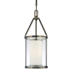 Pendant Light with Clear Glass in Harvard Ct. Bronze Finish
