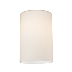 Satin White Cylinder Glass Shade - Lipless with 1-5/8-Inch Fitter