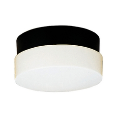 Progress Close To Ceiling Light with White in Black Finish