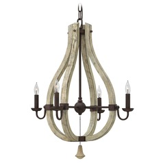 Frederick Ramond Middlefield Iron Rust Chandelier