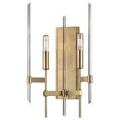 Industrial Sconce Brass Bari by Hudson Valley Lighting