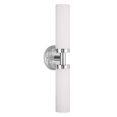 Livex Lighting Aero Brushed Nickel Vertical Bathroom Light