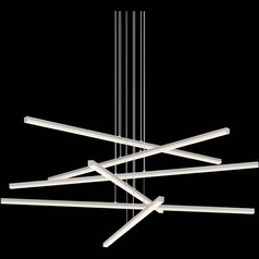 Modern LED Pendant Light Satin Aluminum Stix by Sonneman Lighting