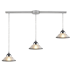 Modern Multi-Light Pendant Chrome Refraction by Elk Lighting