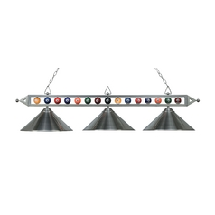 Three-Light Billiard Pendant Light