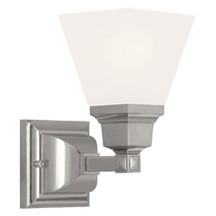 Livex Lighting Mission Polished Nickel Sconce