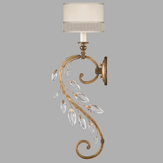 Fine Art Lamps Crystal Laurel Gold Leaf Sconce