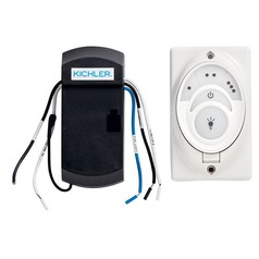 Kichler Lighting Cooltouch White 3-Speed Fan and Light Control