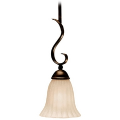 Kichler Mini-Pendant Light with Beige / Cream Shade