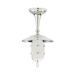Hudson Valley Lighting Semi-Flushmount Light with White Glass in Old Bronze Finish 2911-OB