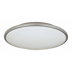 Modern Flushmount Light with White Acrylic Shade - 17-Inches Wide