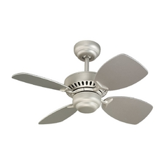 Ceiling Fan Without Light in Brushed Pewter Finish