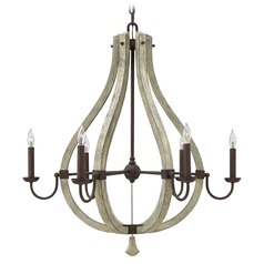 Fredrick Ramond Middlefield Iron Rust Chandelier