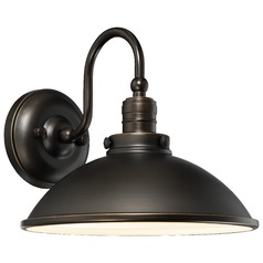 Farmhouse LED Barn Light Oil Rubbed Bronze with Gold Baytree Lane by Minka Lavery