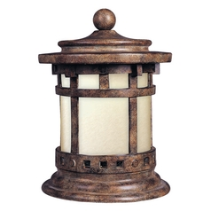 Maxim Lighting Post Deck Light with Beige / Cream Glass in Sienna Finish 85032MOSE
