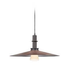 Modern Pendant Light in Textured Rustic Bronze Finish